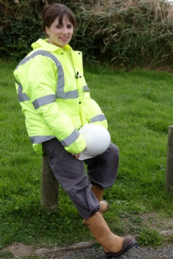 Girl in hi vis jacket 1