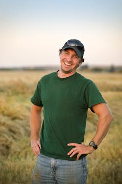 Rural worker in green tshirt